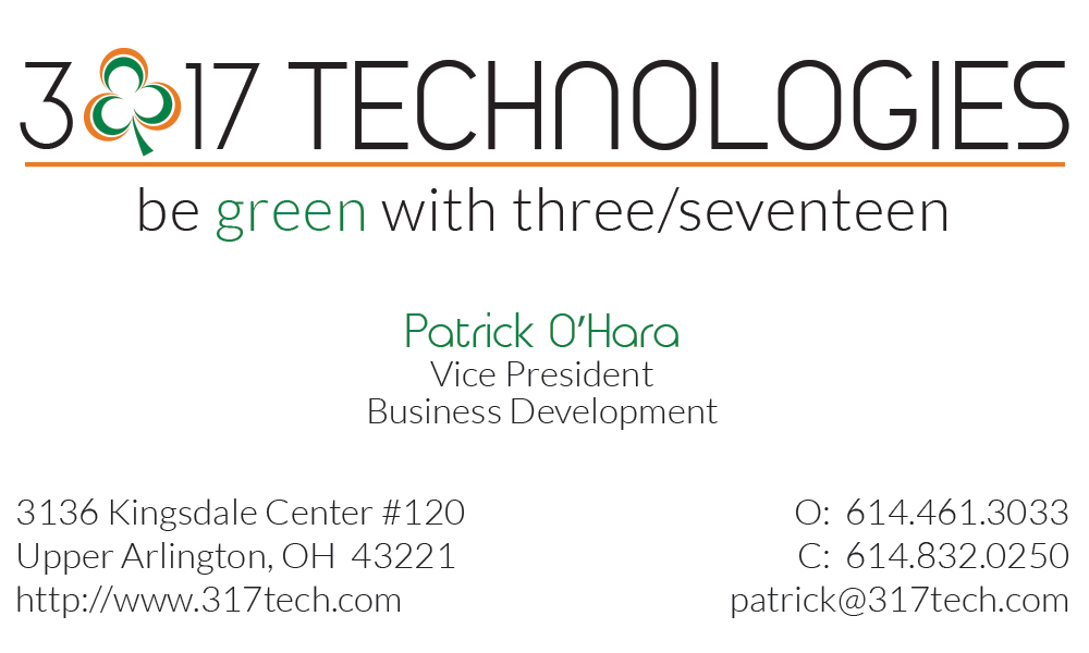 3/17 Technologies Business Card