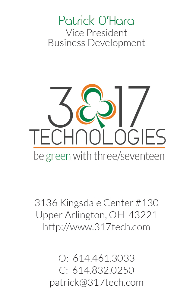 3/17 Technologies Business Card Alternative