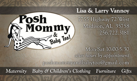 Posh Mommy Business Card