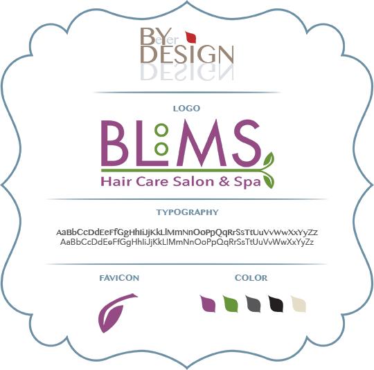 BLooMS Haircare Branding