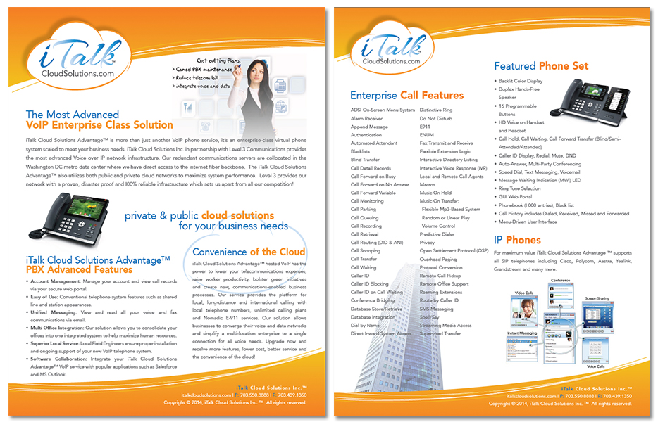 iTalk Cloud Solutions Brochure