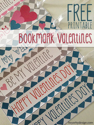 Free Printable Bookmark Valentines