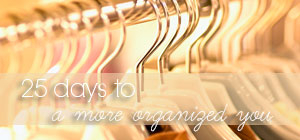 25 days to ... a more organized you graphic
