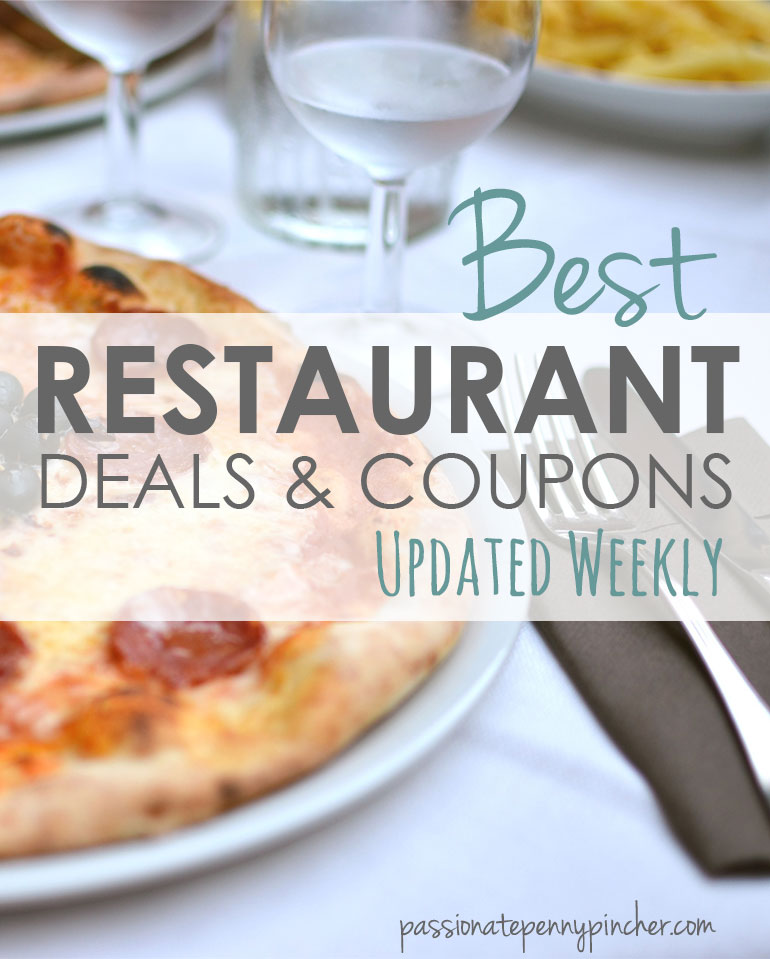 Best restaurant deals and coupons updated weekly graphic
