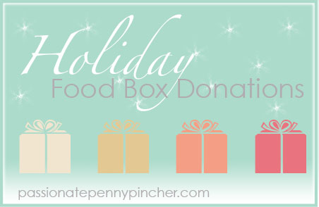 Holiday Food Box Donations Graphic