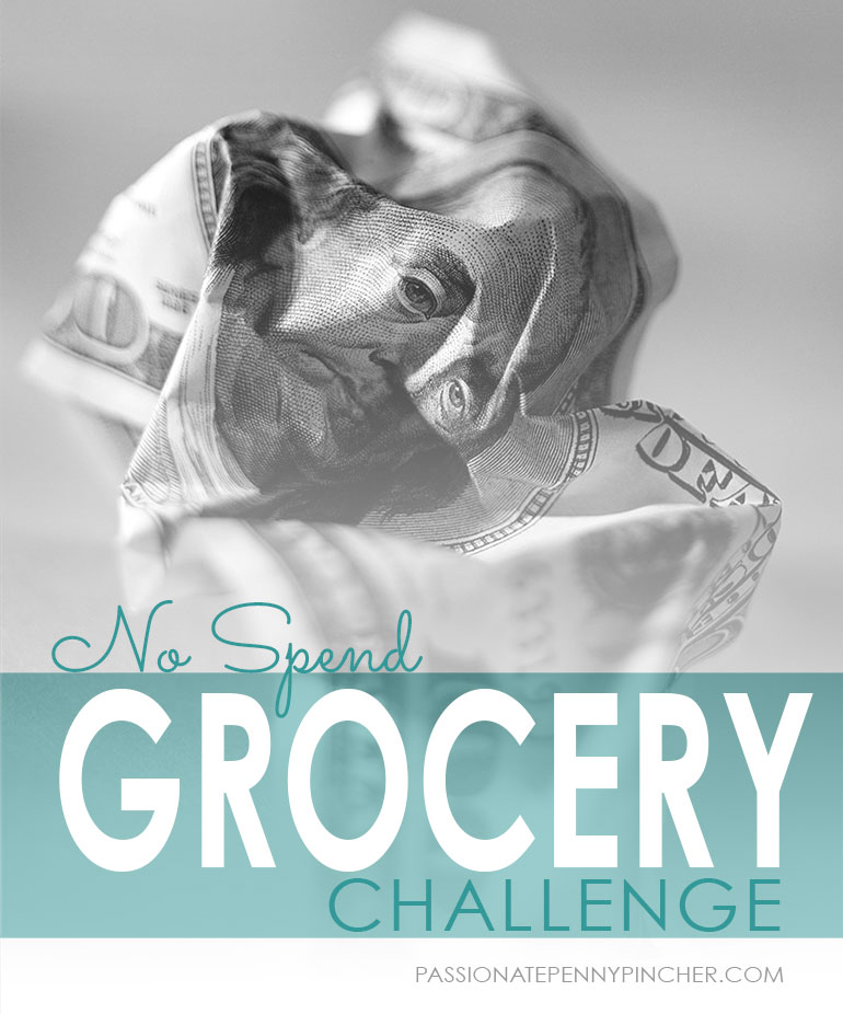 No Spend Grocery Challenge graphic