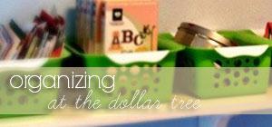 organizing at the dollar tree graphic