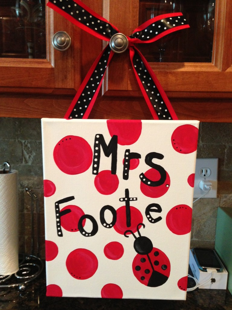 Image of Teacher gift Canvas