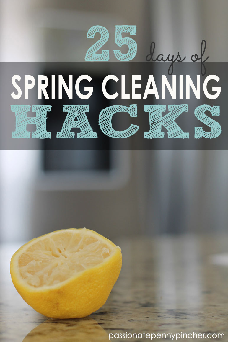 25 days of Spring Cleaning Hacks graphic
